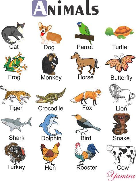 Animals | Atividades em inglês para crianças, Ensino de ...