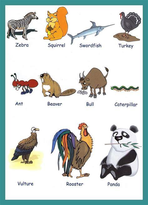 Animals Vocabulary For Kids