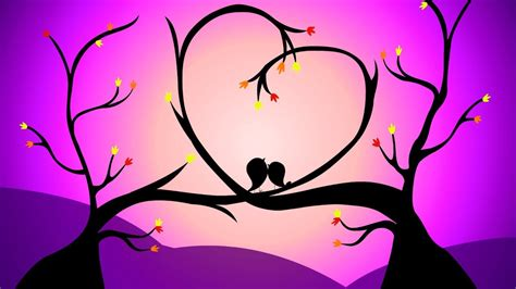 Animated Love Greetings   Cute Love Birds Background Video ...