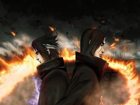 anime, Naruto Shippuuden, Uchiha Itachi, Uchiha Sasuke ...