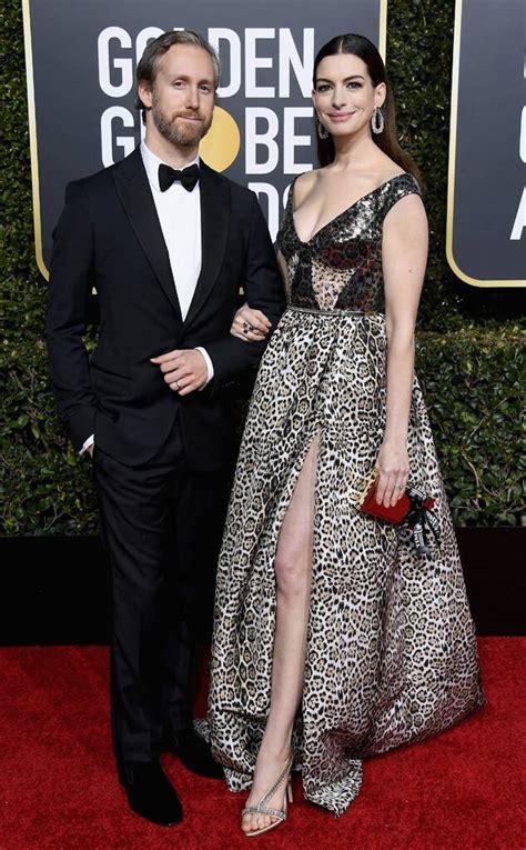 Anne Hathaway & Adam Shulman from Golden Globes 2019: Red ...