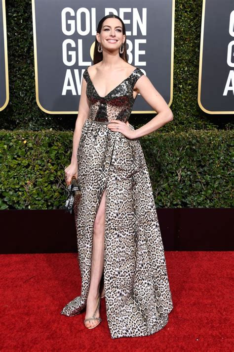 ANNE HATHAWAY at 2019 Golden Globe Awards in Beverly Hills ...