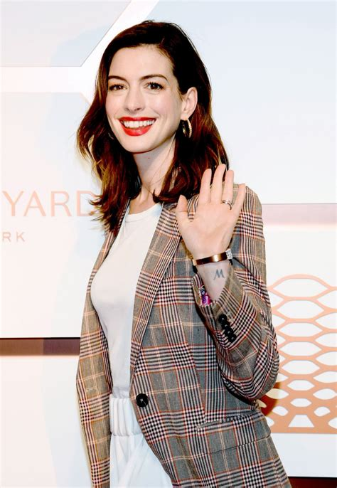 ANNE HATHAWAY at Hudson Yards VIP Grand Opening in New ...