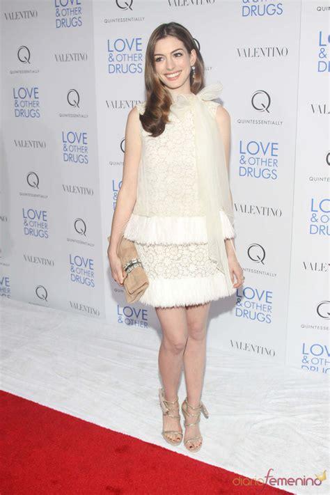 Anne Hathaway en el pase de  Amor y otras drogas  en NY