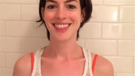 Anne Hathaway s First Instagram Is...an Ice Bucket ...