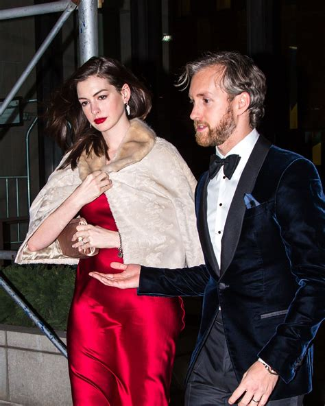 Anne Hathaway With Adam Shulman for a B day Celebration ...
