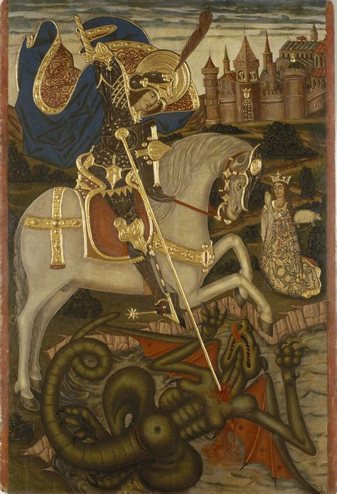 Anonymous. Catalonia   Saint George Slaying the Dragon ...