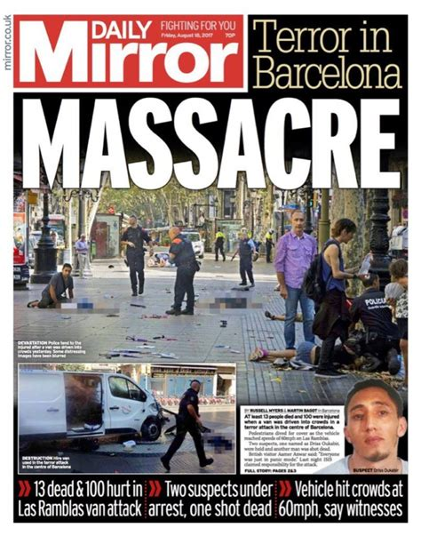 Anorak News | Barcelona terror: the front pages