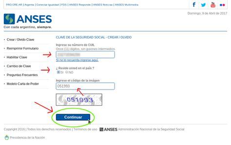 ANSES   Recuperación de la  Clave de Seguridad Social ...