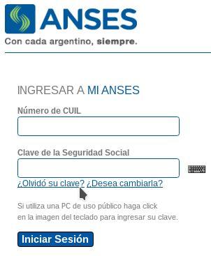 """ANSES – Recuperación de la """"Clave de Seguridad Social ..."""