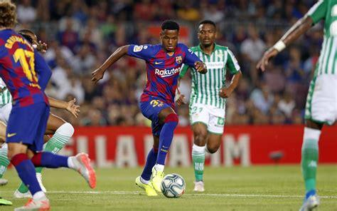Ansu Fati debuta amb el primer equip