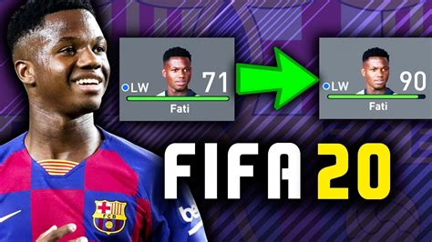 ANSU FATI IS OFFICIALLY IN FIFA 20 CAREER MODE!!   FIFA 20 ...