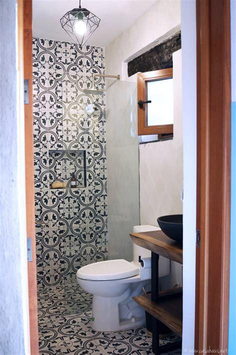 Antes y después: Baño estilo rústico industrial   Casa ...