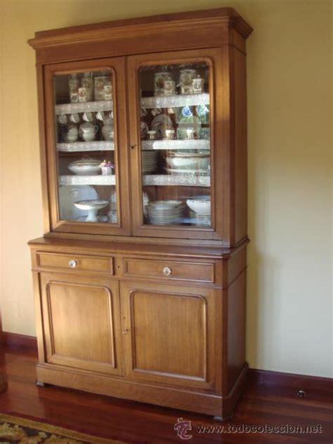 antigua vitrina o libreria en madera de roble   Comprar ...