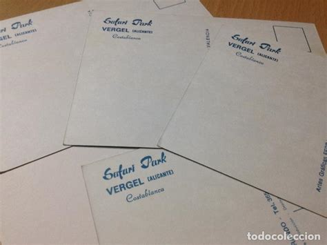 antiguas postales safari park vergel alicante   Comprar ...