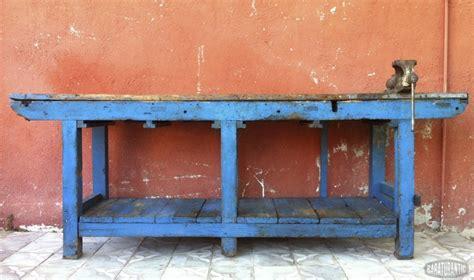 Antiguo Banco de Taller Industrial   Muebles Vintage ...
