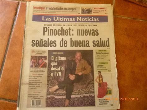 Antiguo Diario Las Ultimas Noticias 5 Marzo 2000   $ 10 ...