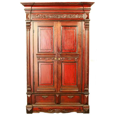 Antique Chinese Wedding Wardrobe Armoire Cabinet Rare 48 ...