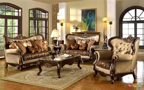 Antique Style Traditional Formal Living Room Furniture Set ...