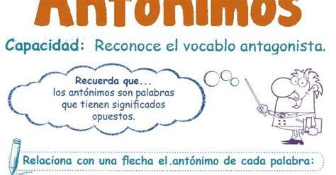 Antónimos para Niños 2º | Razonamiento Verbal