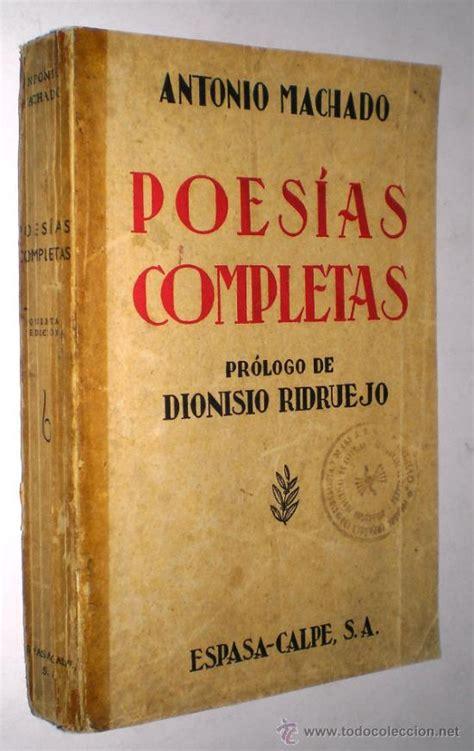 antonio machado: poesías completas  prologo de   Comprar ...