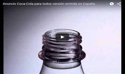 Anuncio de Coca Cola  para todos  con letra