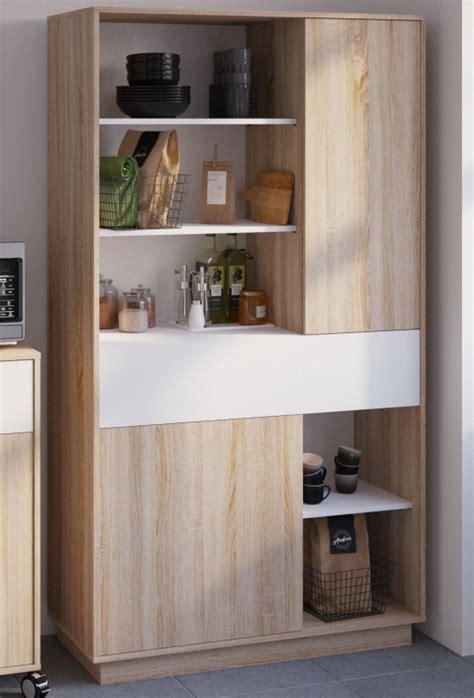 Aparador Alto Cocina Mueble Microondas Auxiliar Blanco Y ...