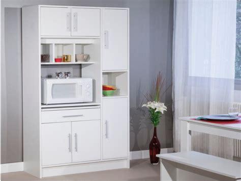 Aparador de cocina 5 puertas 4 huecos color blanco MADY