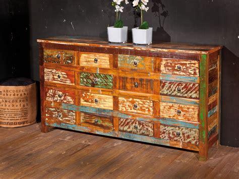 Aparador mueble industrial de madera maciza para tu salón ...