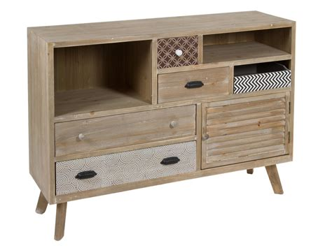 Aparador original estilo industrial en madera de abeto y mdf