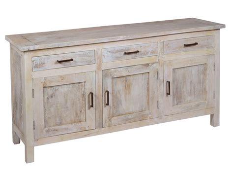 Aparador rústico vintage de madera envejecida