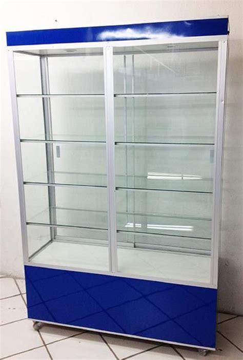 Aparador Vitrina Exhibidor Mostrador Cristal 1.2 M ...