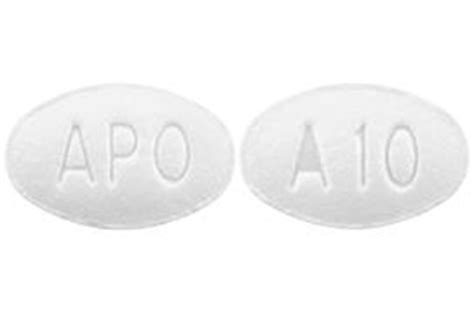 APO A10 Pill Images  White / Elliptical / Oval