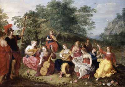 Apolo y las nueve musas, Hendrick van Balen  1575 1635 ...