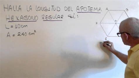APOTEMA DE UN HEXAGONO REGULAR .   YouTube