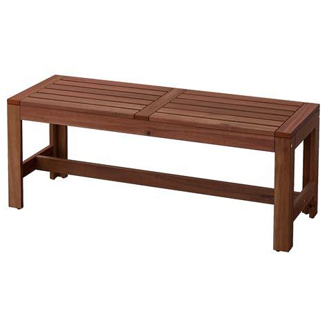 ÄPPLARÖ Bench, outdoor, brown stained brown   IKEA