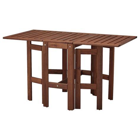 ÄPPLARÖ Mesa plegable jardín   tinte marrón   IKEA