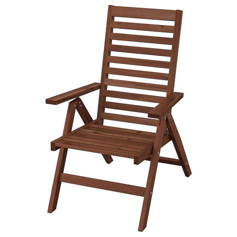 ÄPPLARÖ Silla jardín reclinable, plegable marrón tinte ...