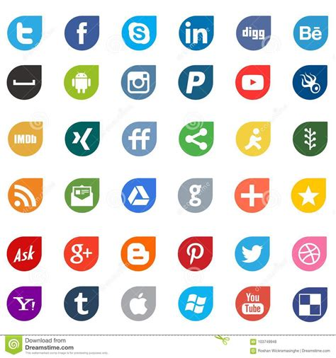 Apps Social Media Networking Logo Signs Editorial Stock ...