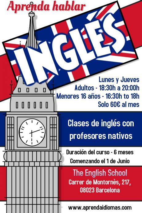 Aprenda Inglés Curso Folleto Template   PosterMyWall