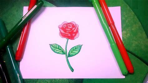 Aprende a dibujar flores pasa paso 2/2   Una rosa con ...