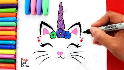 Aprende a dibujar un GATICORNIO  decorativo  fácil   How ...