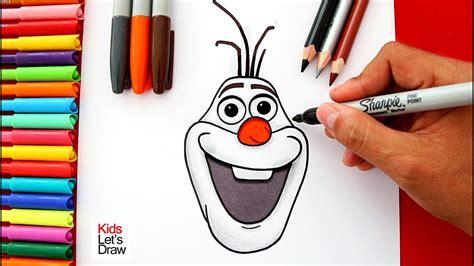 Aprende a dibujar y pintar a OLAF de Frozen  sólo la ...