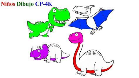 Aprende colores con dinosaurios para niños   Cómo dibujar ...