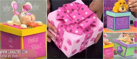 Aprende cómo hacer cajas de regalo en foami paso a paso ...