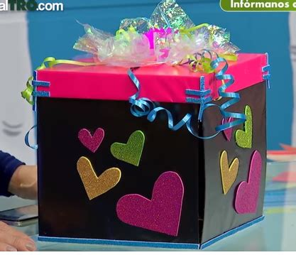 Aprende cómo hacer una caja explosiva para regalos ...