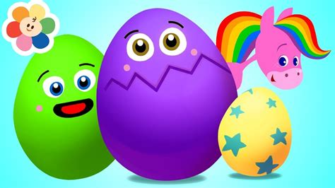 Aprende Con Huevo Sorpresa   Colores y Animales para Niños ...