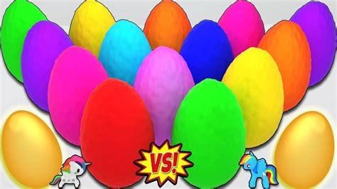 Aprende los Colores con 20 Huevos Sorpresa Coloridos de ...