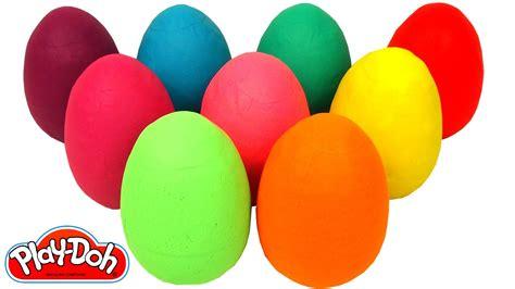 Aprende los Colores con 9 Huevos Sorpresas Coloridos   YouTube
