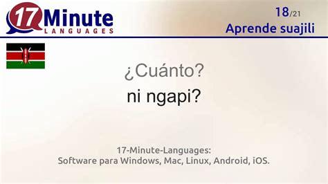 Aprende suajili de forma gratuita con nuestro nuevo ...